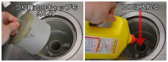 台所の排水口の詰まりを取る方法