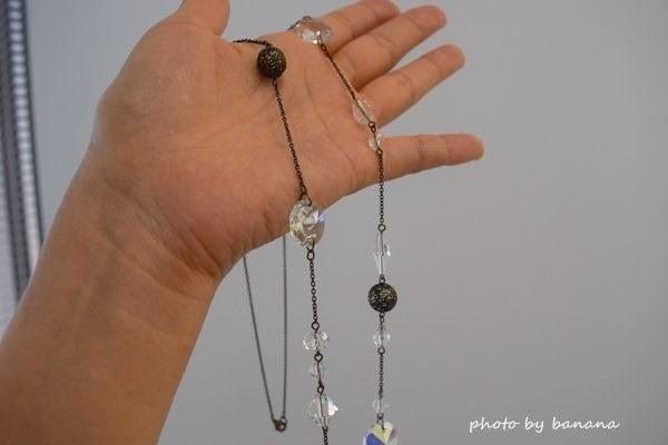 ボヘミアガラス ネックレス