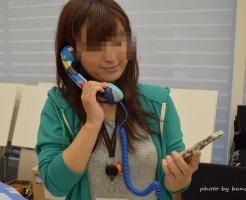 スマホ用受話器 黒電話