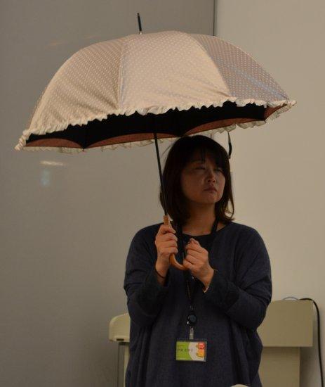 麻生,CM,ドット,日傘,水玉,かわいい