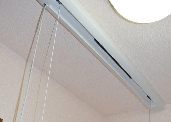 洗面室に部屋干し 天井物干し竿口コミブログ