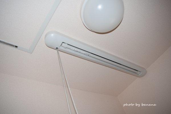 洗面室 間取り 室内干し 竿DIY設置