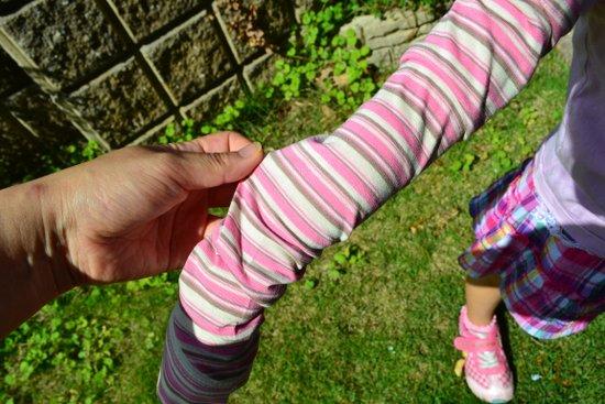 暑くない子供用日焼け防止腕カバー