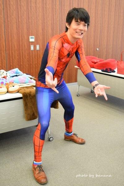 スパイダーマン 全身仮装 男