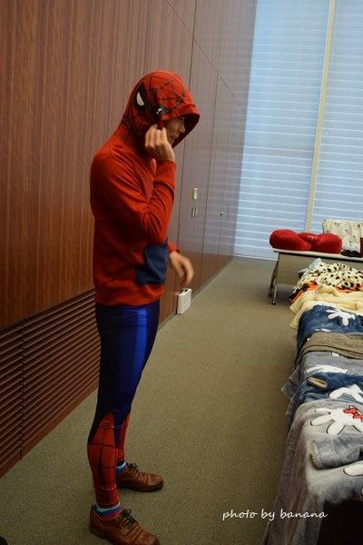 スパイダーマントレーナー 仮装 男