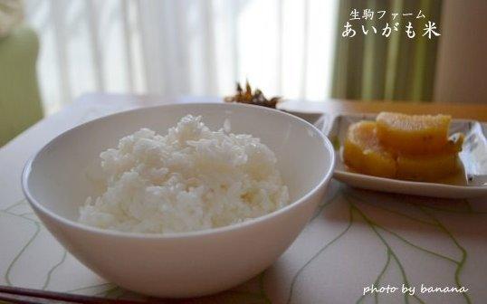 生駒ファームの無農薬あいがも米