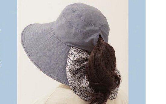 髪を結んだままかぶれる帽子