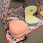 アリエルの座椅子 貝型シェルの形