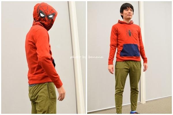 ハロウィン 仮装 スパイダーマン USJ トレーナー 普通